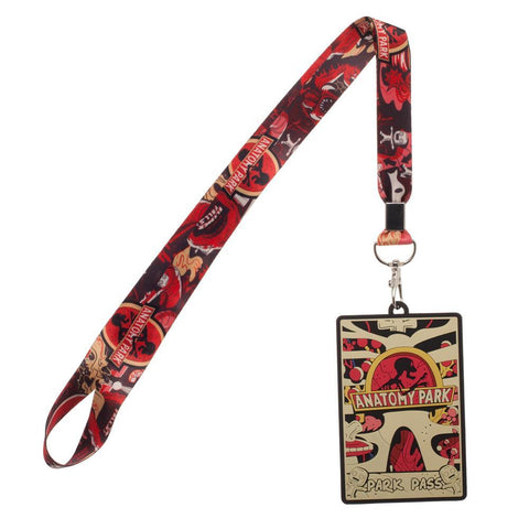 New Rick and Morty Anatomy Park Wide Strap Lanyard ID Badge Holder