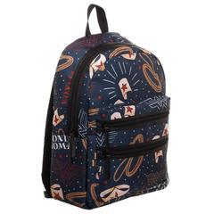 DC Wonder Woman Backpack  Double Zipper Backpack with Wonder Woman Symbols - poshopolis