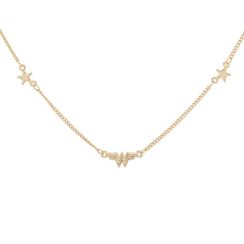 DC Comics Wonder Woman Logo Petite Charm Necklace
