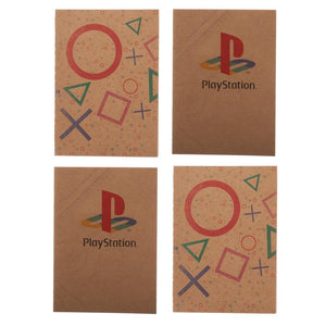 Playstation Journal 4-Pack Gaming Stationary Playstation Gift - Playstation Accessories Gift for Gamers