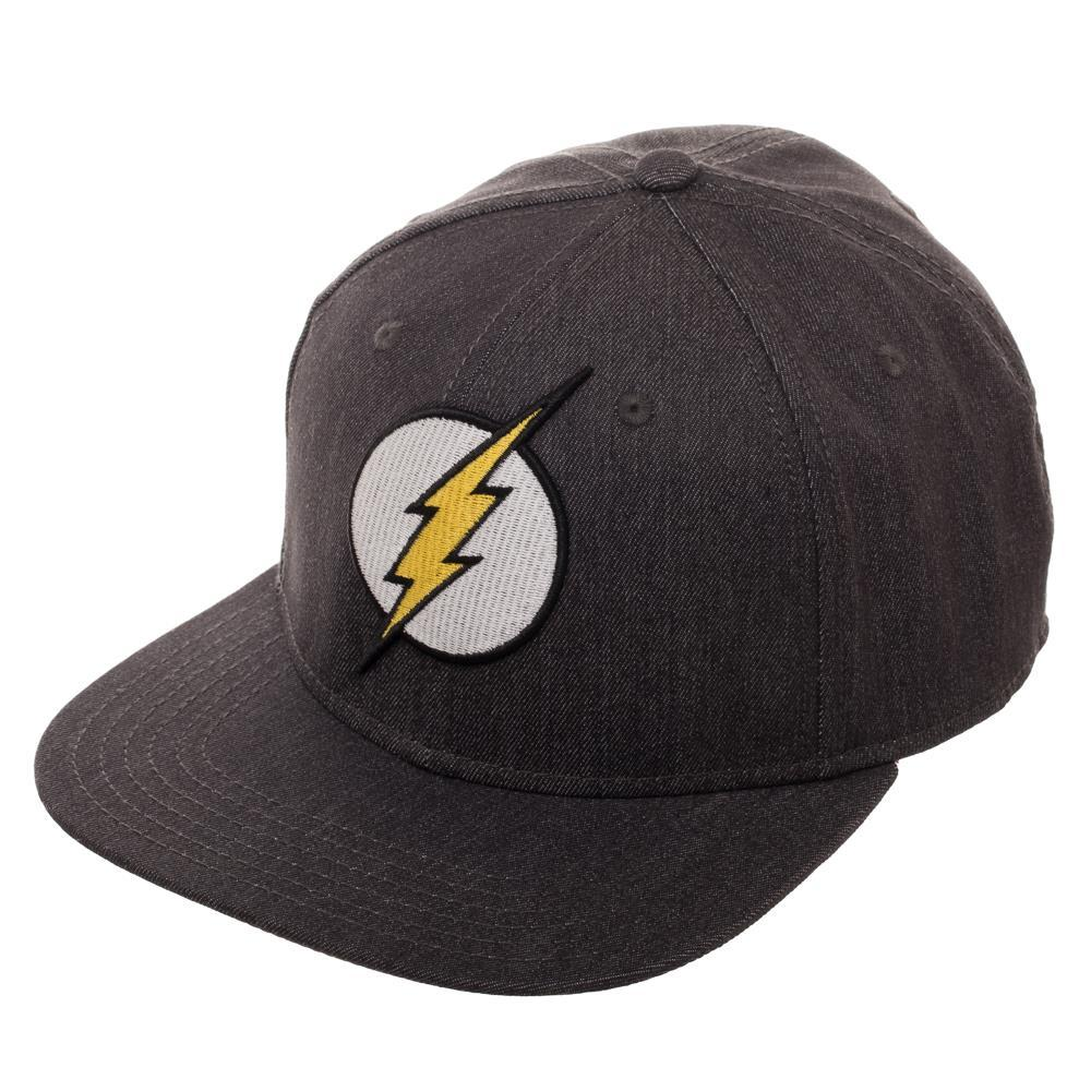 Embroidered Flash Logo Flatbill Flex Cap - Baseball Cap / Snapback - poshopolis