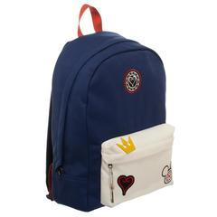 Kingdom Hearts Bag  Navy Blue and Whte Backpack with Kingdom Hearts Patches - poshopolis
