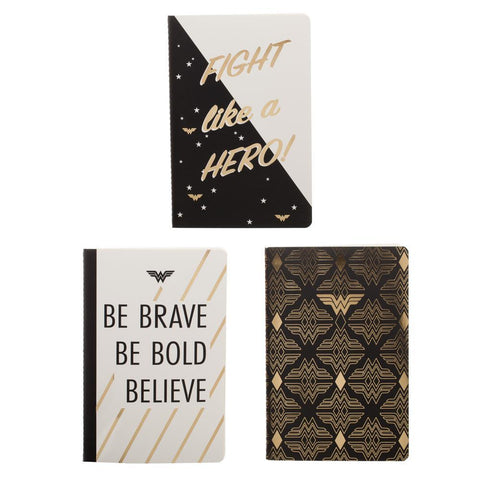 Wonder Woman Journals 3-Pack DC Journals - DC Accessories Wonder Woman Gift Wonder Woman Accessories