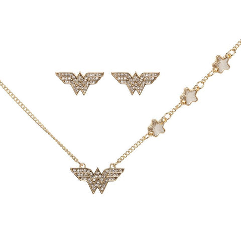 Wonder Woman Necklace and Earrings Set