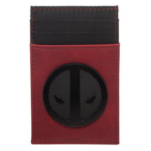 Marvel Deadpool Symbol Front Flip Wallet, Multi-Function Card Wallet with Insignia, Costume Style Anti-Hero - poshopolis