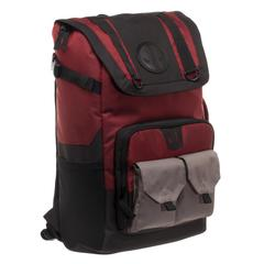 Marvel Deadpool Backpack  Black and Red Deadpool Backpack - poshopolis