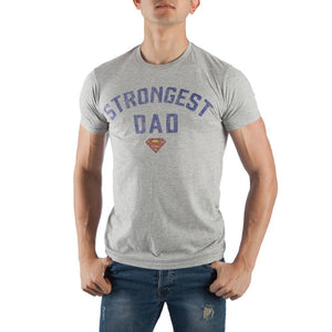 Men's Superman Strongest Dad Tee