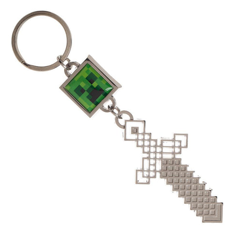 Sword and Creeper Minecraft Keychain