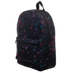 Playstation Print Playstation Button Sublimated Backpack - poshopolis
