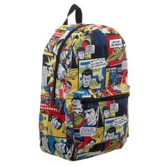 Star Trek Comic Print Star Trek Backpack Sublimated Backpack - poshopolis
