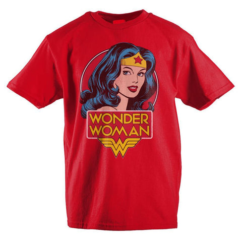 DC Comics Classic Wonder Woman Headshot Girls T-Shirt