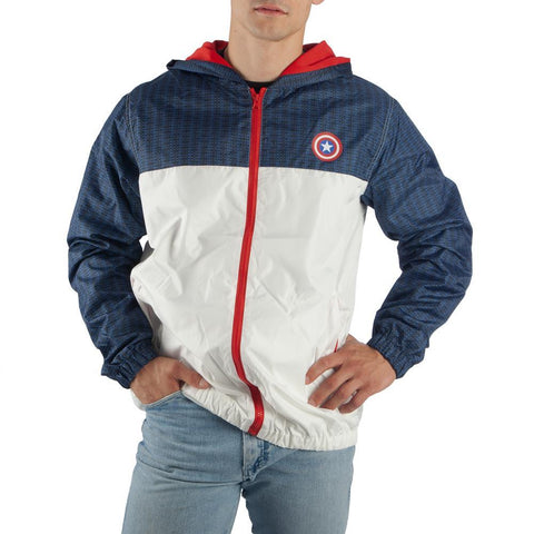 Captain America Zip Up Hoodie Captain America Jacket - Captain America Hoodie Captain America Gift Captain America Clothing