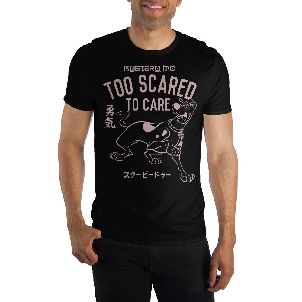 Scooby-Doo ?Too Scared To Care? Kanji Text Short-Sleeve T-Shirt
