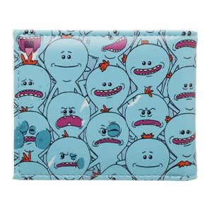 Rick and Morty Mr Meeseeks AOP Pattern Bi-Fold Wallet