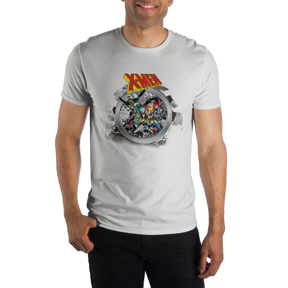 Marvel Comics X-Men Graphic Men's White T-Shirt Tee Shirt - poshopolis