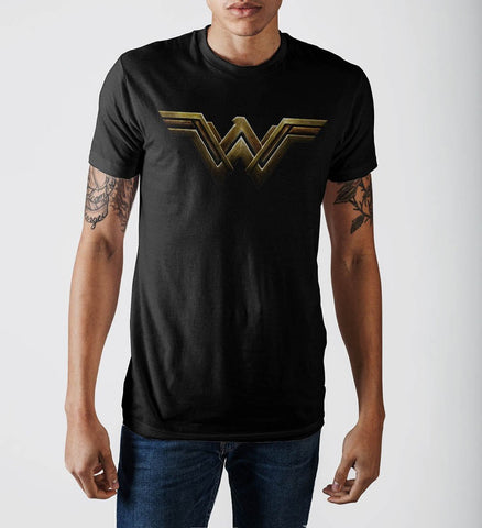 Black Wonder Woman TShirt with Logo