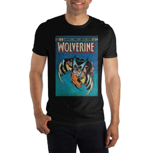 Marvel Comics Limited Series Wolverine Claws Out Men's Black T-Shirt Tee Shirt - poshopolis