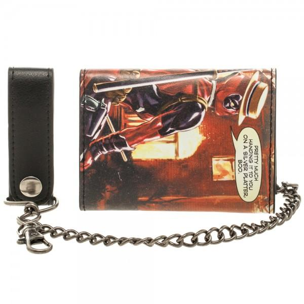 Marvel Deadpool Fire Chain Wallet - poshopolis