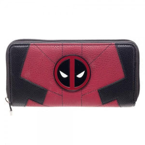 Marvel Deadpool Juniors Suit Up Zip Around Wallet - poshopolis