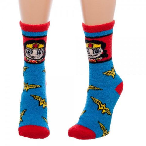 wonder woman fuzzy socks