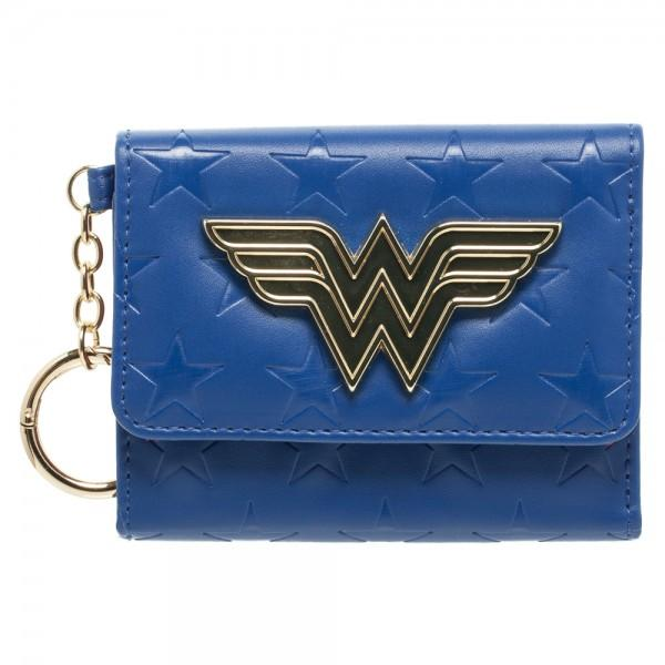 DC Comics Wonder Woman Mini Tri-Fold Wallet - poshopolis