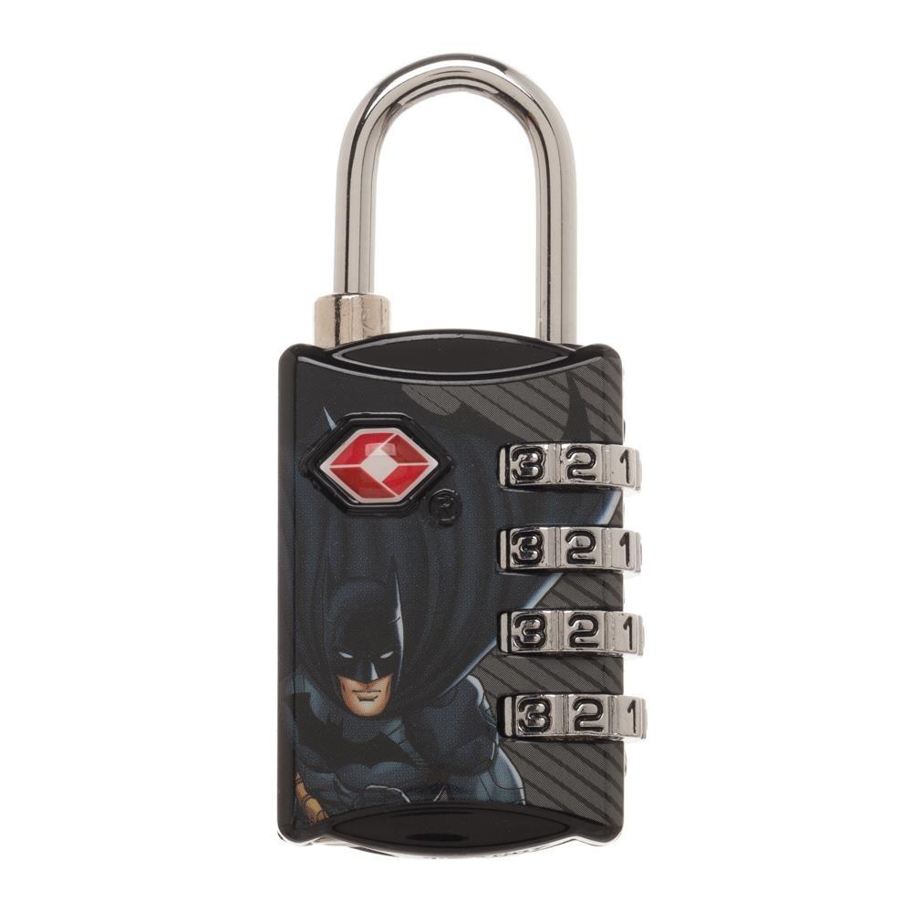 DC Comics Batman Graphic Design TSA Approved Travel Combination Luggage Lock for Suitcase Baggage - poshopolis