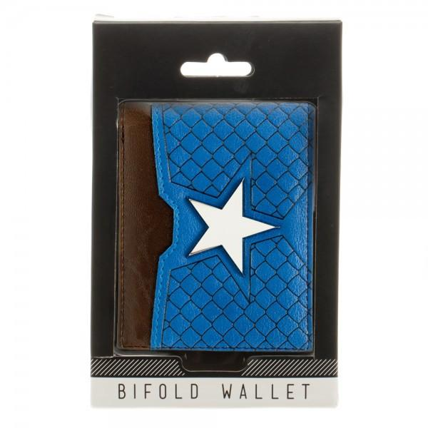 Marvel Captain America Suit Up Bi-Fold Boxed Wallet - poshopolis