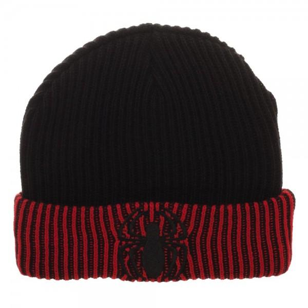 Spiderman Logo Embroider Reversible Acrylic Wool Beanie - poshopolis