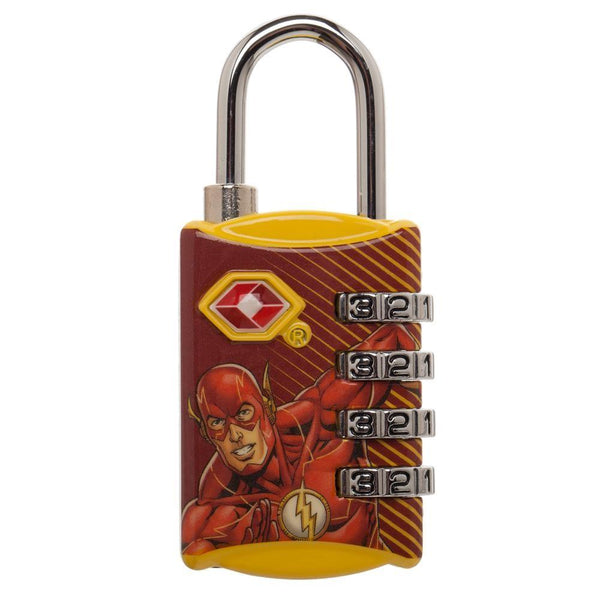 DC Comics The Flash Graphic Design TSA Approved Travel Combination Luggage Lock for Suitcase Baggage - poshopolis