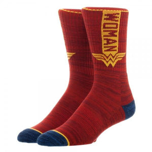 DC Comics Wonder Woman Crew Sock - poshopolis
