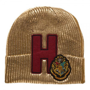 Harry Potter Hogwarts Metallic Acrylic Coated Beanie