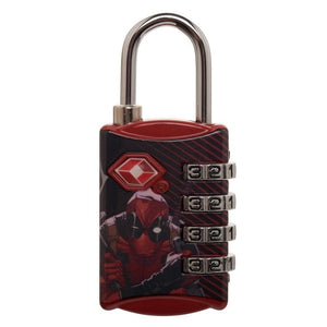 Marvel Comics Deadpool Graphic Design TSA Approved Travel Combination Luggage Lock for Suitcase Baggage - poshopolis