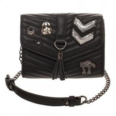 Dark Side Quilted Crossbody Bag with Tassel - poshopolis