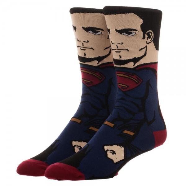 Justice League Superman 360 Character Crew Socks - poshopolis