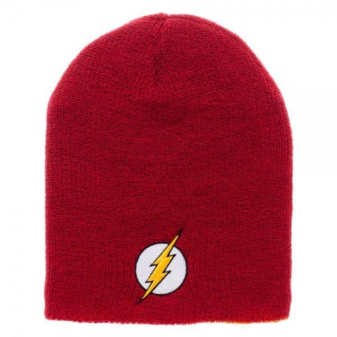DC Comics Flash Reversible Slouch Beanie - poshopolis