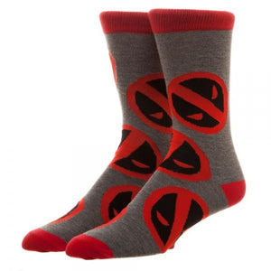 Marvel Deadpool Large All Over Print Crew Socks - poshopolis