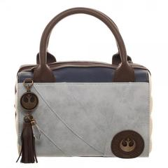 Rey Canvas and PU Leather Dotty Satchel - poshopolis