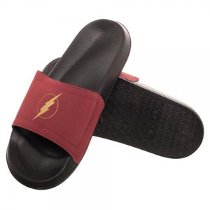 Flash Logo Unisex Black Slide - poshopolis