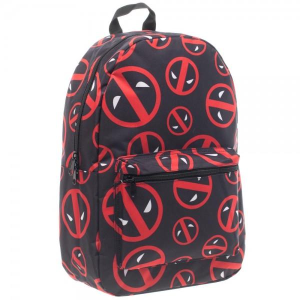 Marvel Deadpool Logo Print Backpack - poshopolis