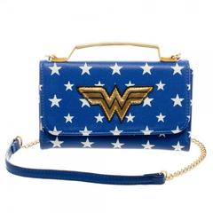 DC Comics Wonder Woman Inside Out Crossbody Wallet Clutch - poshopolis