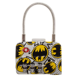 DC Comics Batman Logo TSA Approved Travel Combination Cable Luggage Lock for Suitcase Baggage - poshopolis