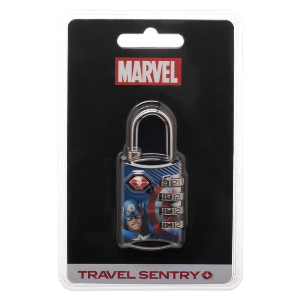 Marvel Comics Captain America Graphic Design TSA Approved Travel Combination Luggage Lock for Suitcase Baggage - poshopolis