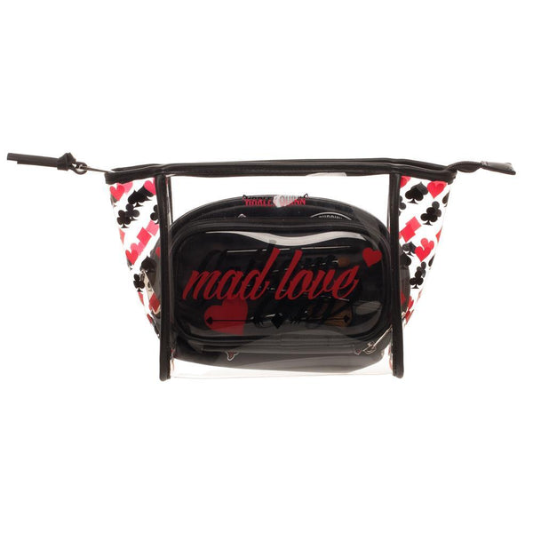 Harley Quinn Cosmetic Bag 3 Piece Set