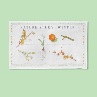 Nature Study - Winter -  Tea Towel