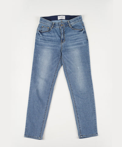 Lady [select] Stretch Skinny Jeans BLUE - Rora