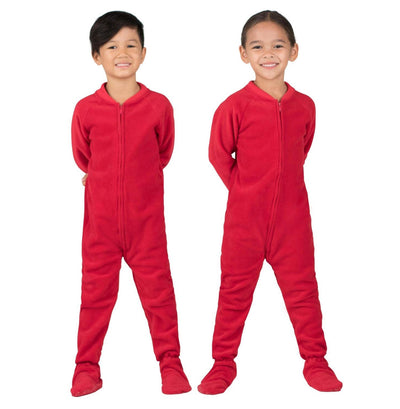 Family Matching Bright Red Fleece Onesie