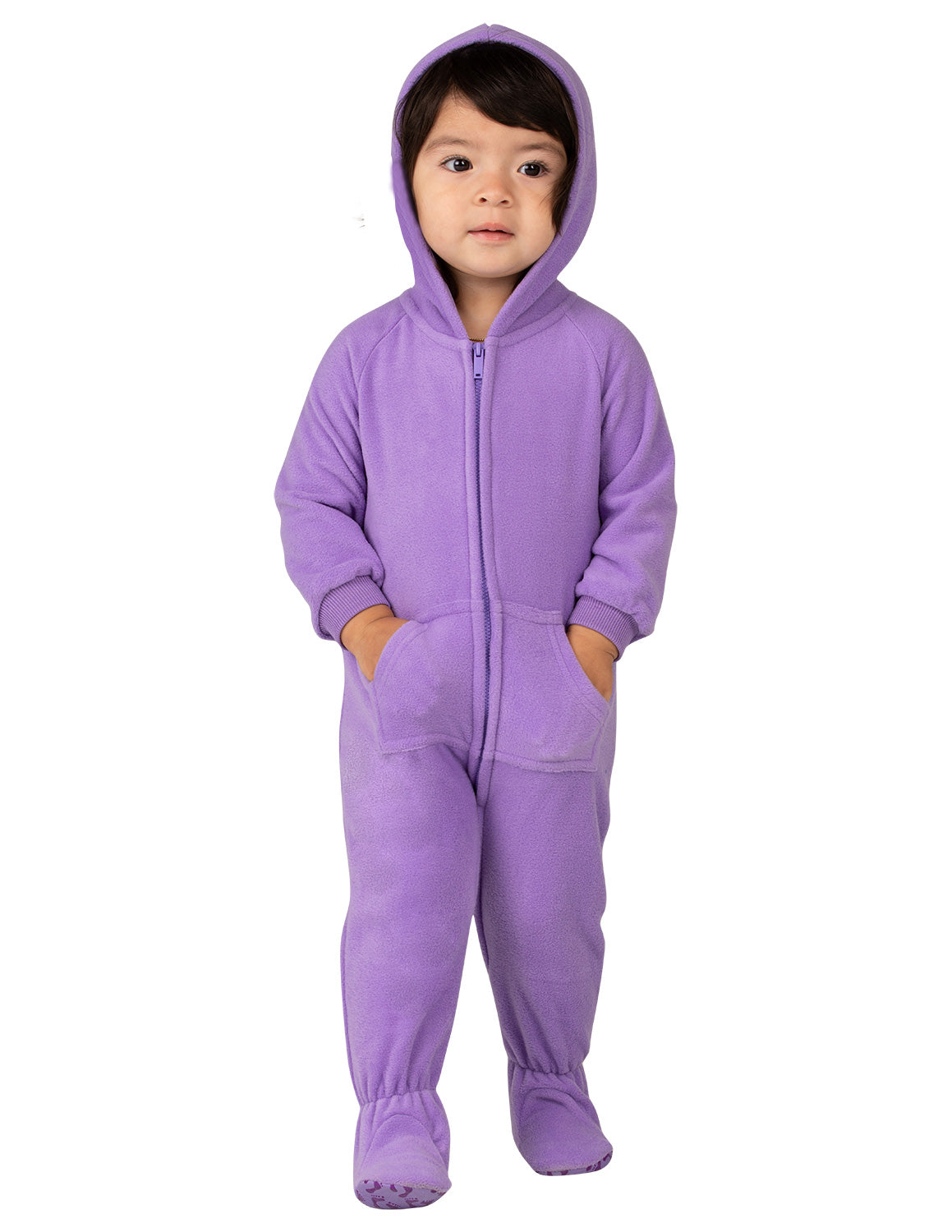 Purple Rain Infant Hoodie Fleece Onesie