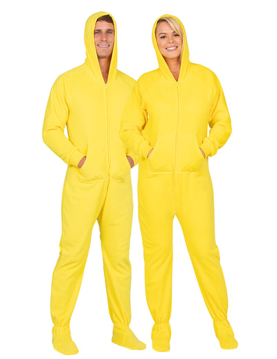 Lemon Yellow Adult Hoodie Fleece Onesie