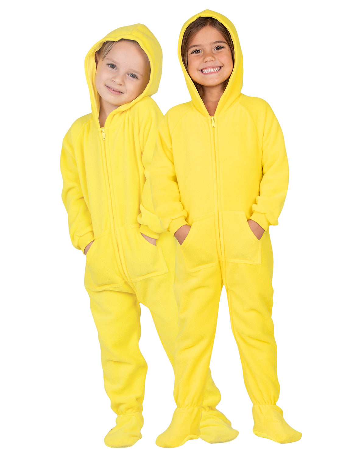 Lemon Yellow Toddler Hoodie Fleece Onesie