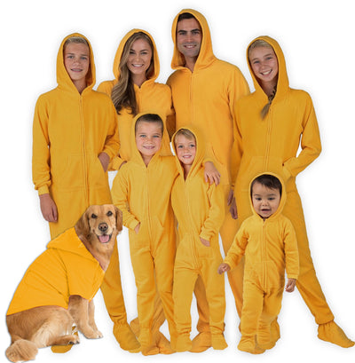 Family Matching Creamsicle Hoodie Fleece Onesie